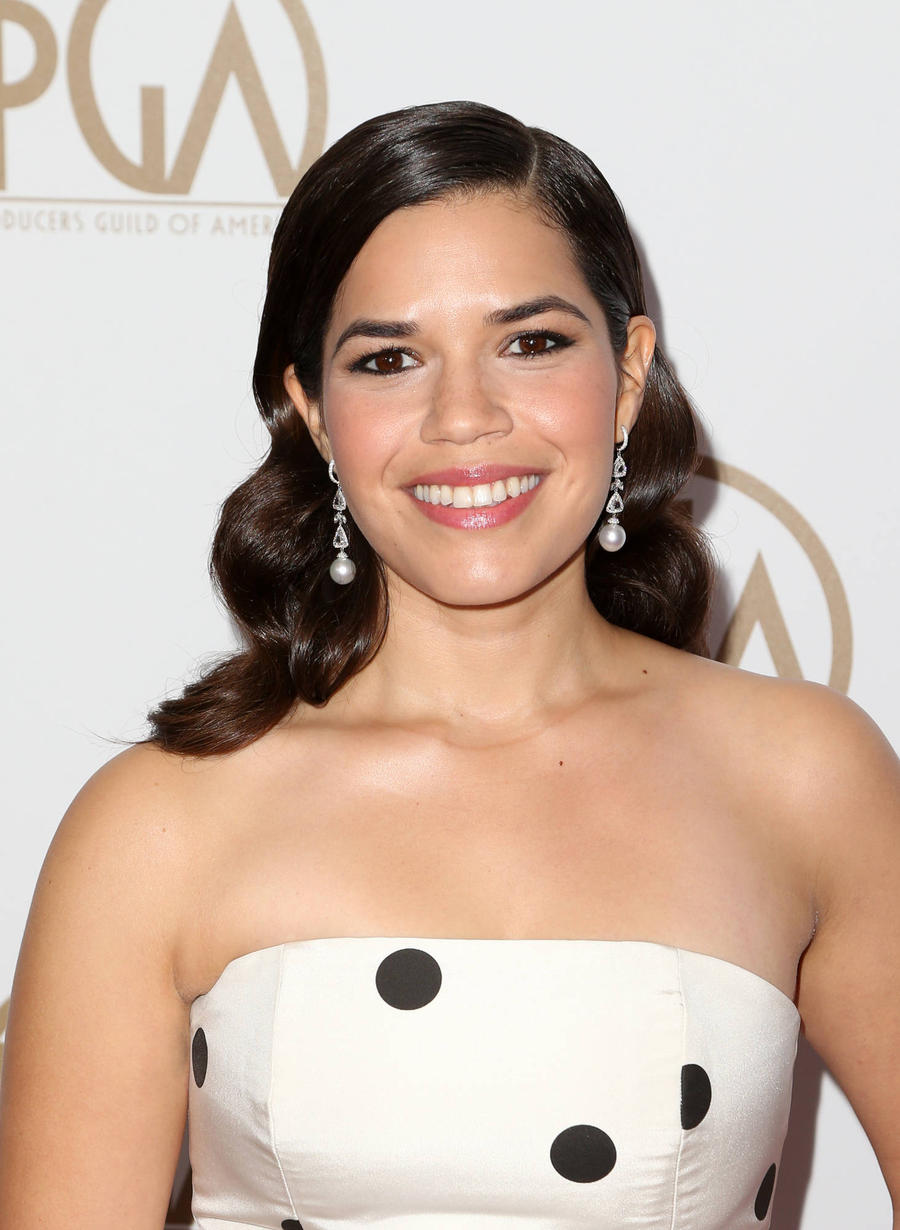 America Ferrera Painted Face White For Audition