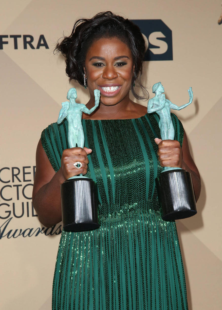 Uzo Aduba Takes Prom Date To Sag Awards