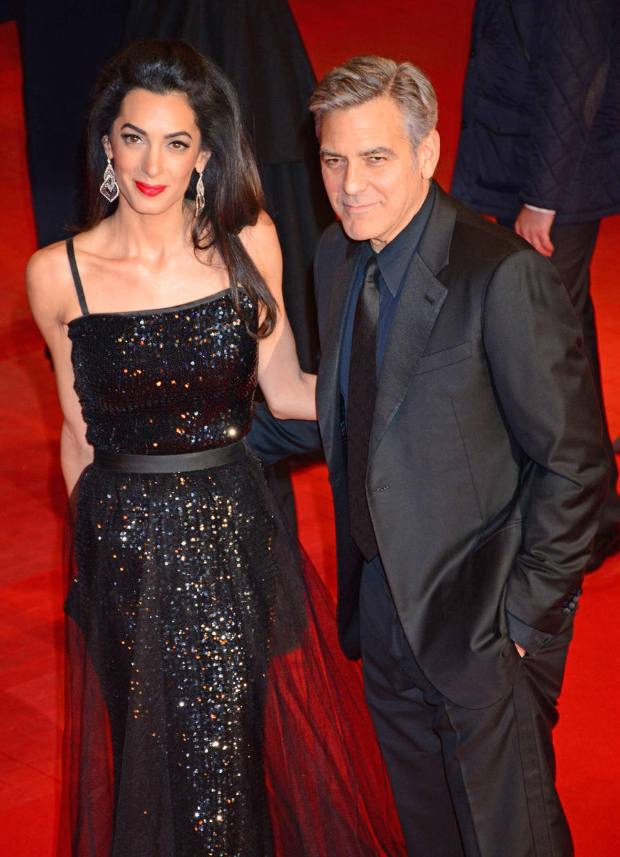 George Clooney Meets With German Chancellor To Discuss Migrant Crisis