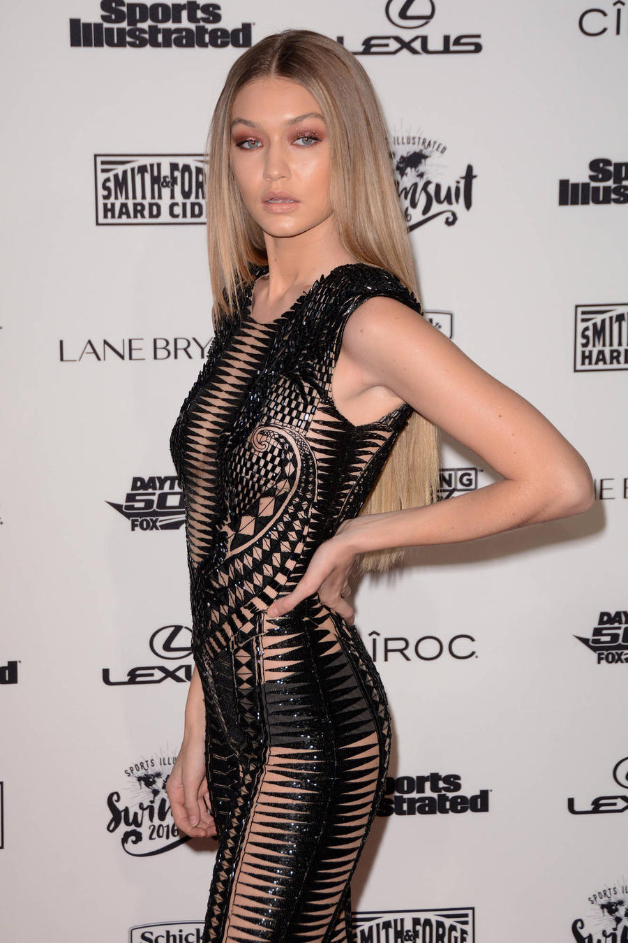 Gigi Hadid Brushes Off Runway Nip-slip