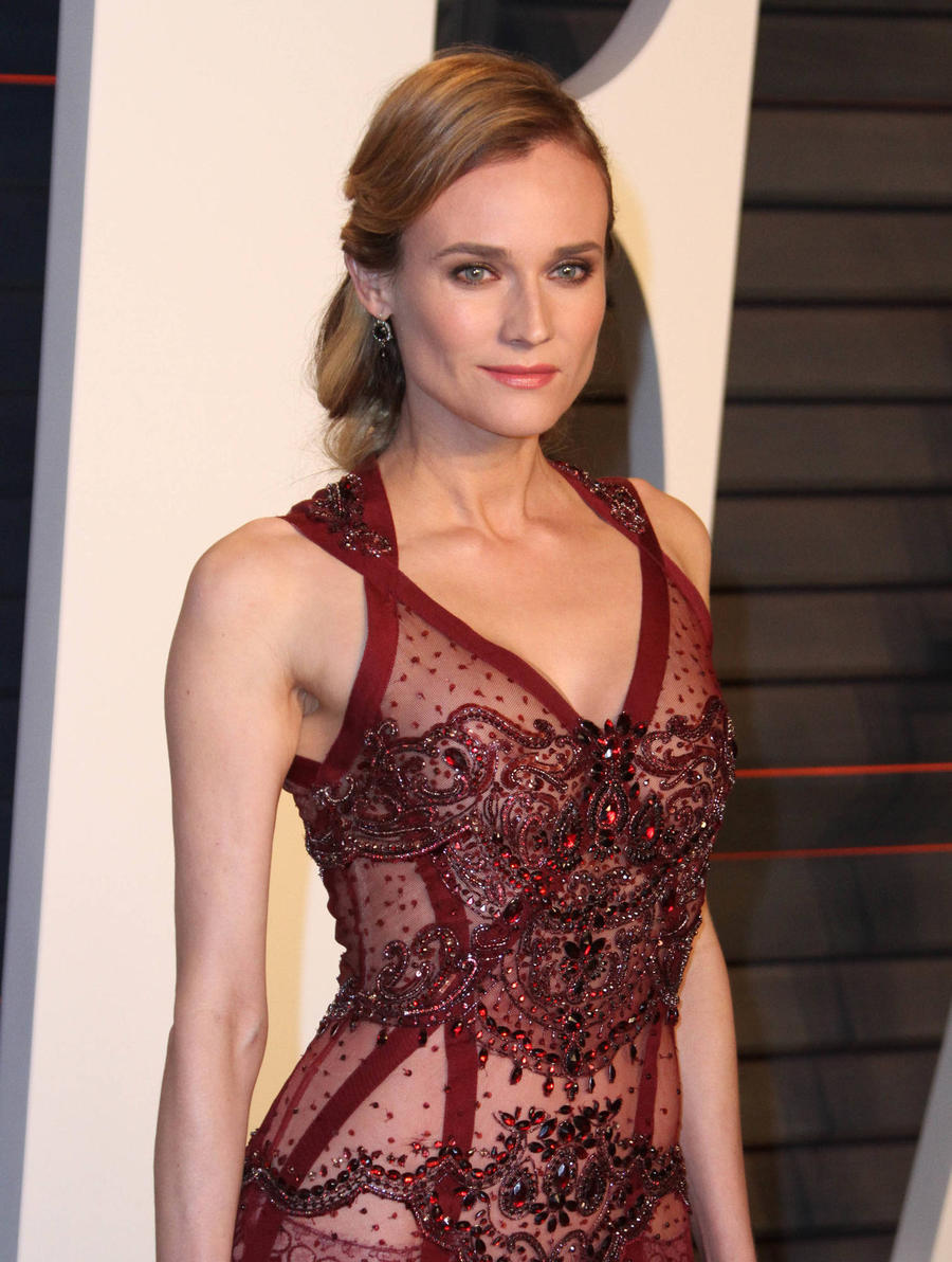 Diane Kruger Attends Fashion Designer Jason Wu's Wedding