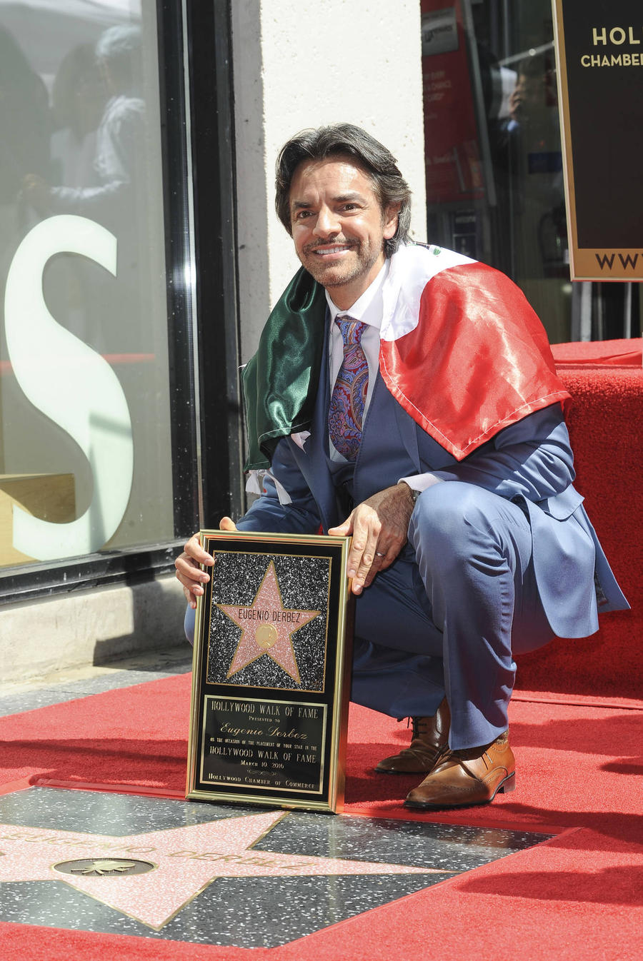 Eugenio Derbez Celebrates Walk Of Fame Star With Janitor