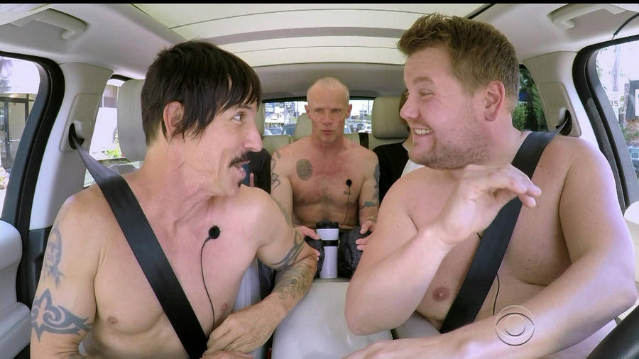 Red Hot Chili Peppers Strip Off For Karaoke With James Corden