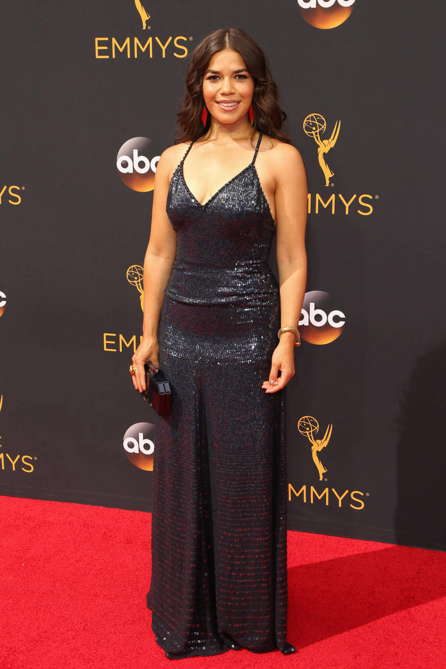 America Ferrera Attends Emmys After First Triathlon