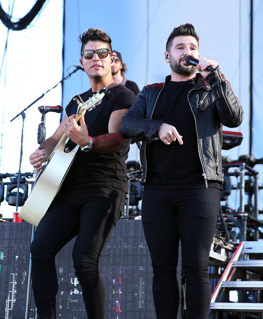 Dan + Shay's Tour Bus Attacked By Brick-throwing Thug