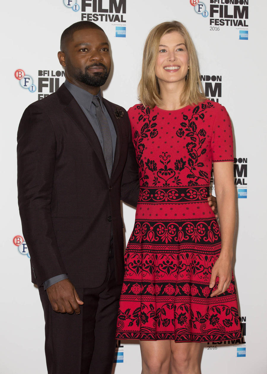David Oyelowo Gushes About 'Charismatic' Co-star Rosamund Pike