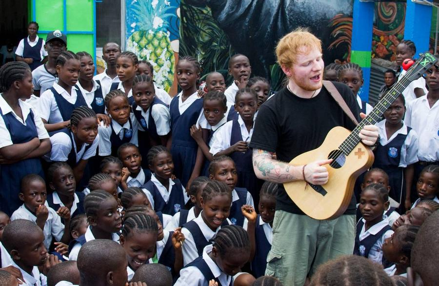 Ed Sheeran Sings With Ebola Orphans On Liberia Visit