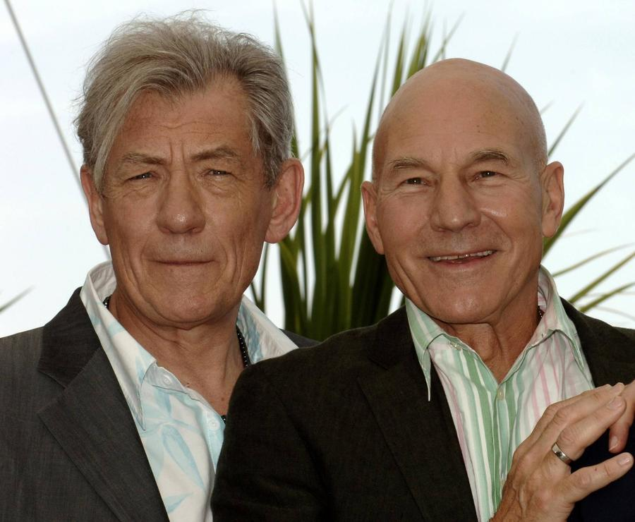 Ian Mckellen And Patrick Stewart Staging British Reunion
