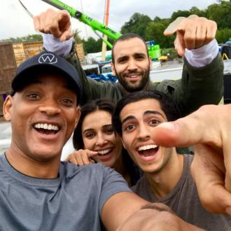 Will Smith shares image of cast of Aladdin live-action remake