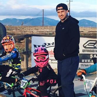 P!nk's daughter in BMX race