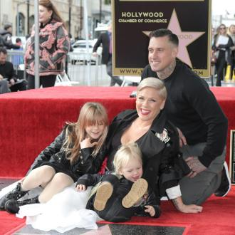Pink thanks family as she receives Hollywood Walk of Fame star