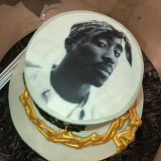 Zendaya's Tupac birthday cake