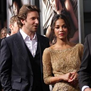 Bradley Cooper And Zoe Saldana Reunite At Premiere