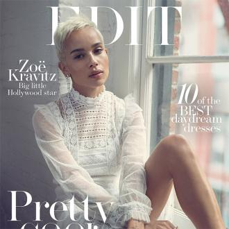 Zoe Kravitz' blonde hair gives her 'anonymity'