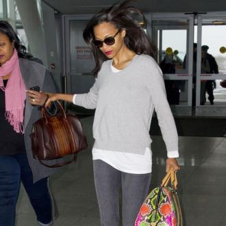 Zoe Saldana Is Three Months Pregnant